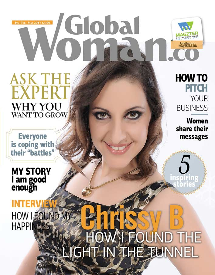 Magazine cover Chrissy B